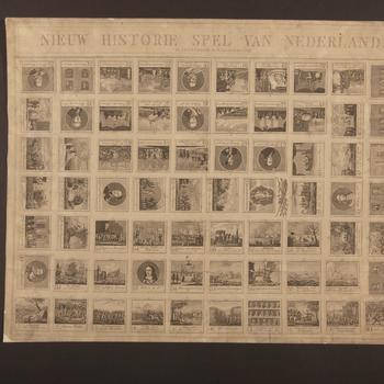 Bordspel 'Nieuw Historie Spel van Nederland', Amsterdam, circa 1821
