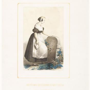 Luthers weesmeisje uit Amsterdam, 1850