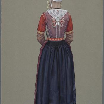 Rode bruid, Marken 1945