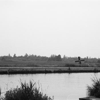 Landschap met weidemolen, Overijssel, 1985–1990