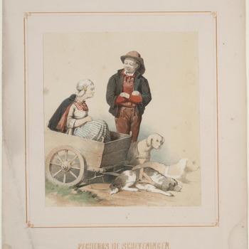 Scheveningse vissers, circa 1850