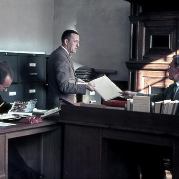 Medewerkers afdeling Documentatie, Nederlands Openluchtmuseum, 1951
