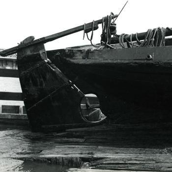 Achtersteven van botter MK 88, Marken, 1943