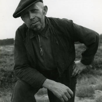 Boer uit Drenthe, circa 1942