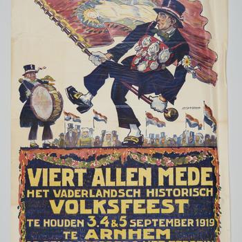 Affiche Vaderlandsch Historisch Volksfeest, 1919