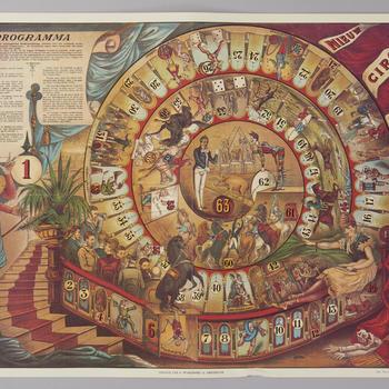 Bordspel 'Nieuw Circus Spel', 1974