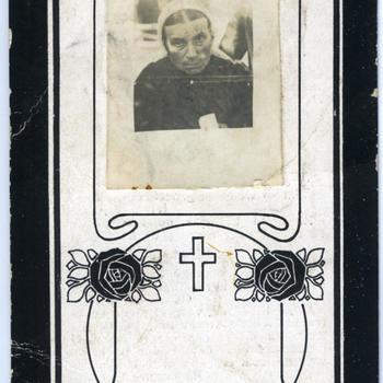 Bidprentje van Maria Wilhelmina Hakvoort, 1920