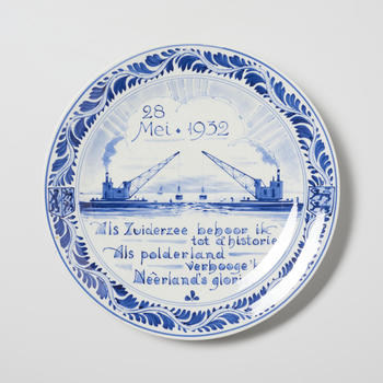 Gedenkbord 'Als Zuiderzee behoor ik tot d'historie, Als polderland verhooge 'k Nêerland's glorie', 1932
