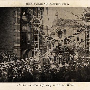 Herinnering Februari 1901. - De Bruidsstoet Op weg naar de Kerk