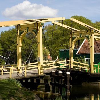 Dubbele ophaalbrug uit Ouderkerk aan de Amstel, 1880–1900