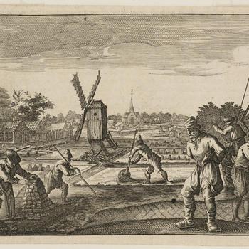 Turfwinning bij Amstelveen, circa 1665