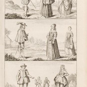 De kleding van Holland, Plaat IV, de zeventiende en achttiende eeuw