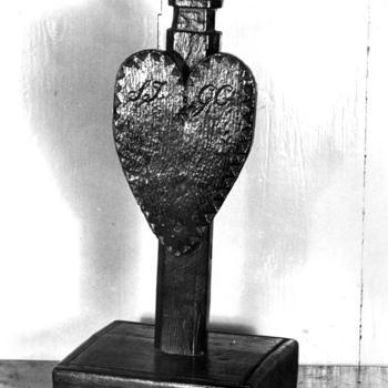 Lampenhanger voor in een botter, Marken, 1943