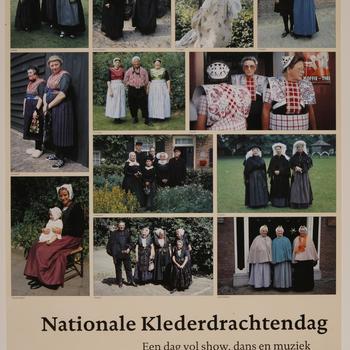 Affiche 'Nationale Klederdrachtendag', Nederlands Openluchtmuseum, 1993
