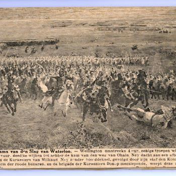 Panorama van de slag van Waterloo
