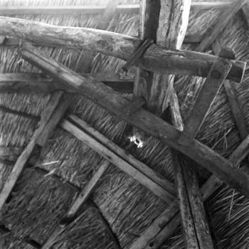 Detail dakconstructie van hooiberg, Hengelo, 1943