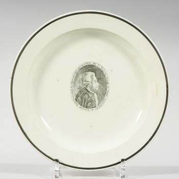 Gedenkbord met portret stadhouder Willem V, Engeland, 1766–1806