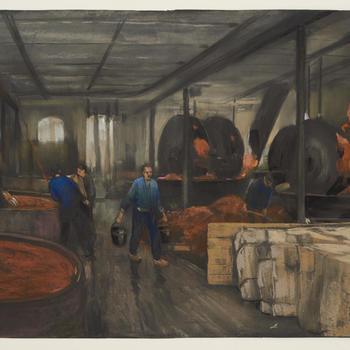 Interieur papierfabriek Fa Schut in Eerbeek, 1930–1940