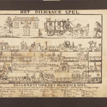 Bordspel 'Het Diligence Spel', 1825–1840