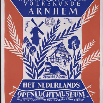 Affiche Nederlands Openluchtmuseum, 1953