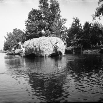 Hooivervoer over het water, Jonen, 1947
