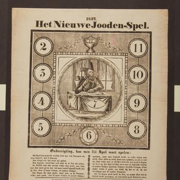 Spel 'Het nieuwe Jooden-spel', Amsterdam, 1837