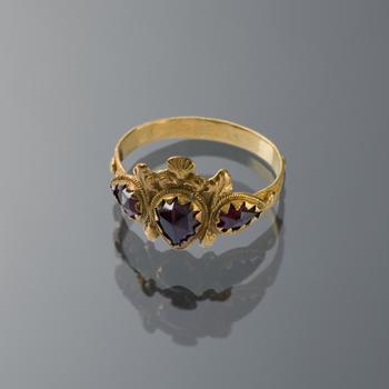 Gouden ring, Hindeloopen, circa 1850