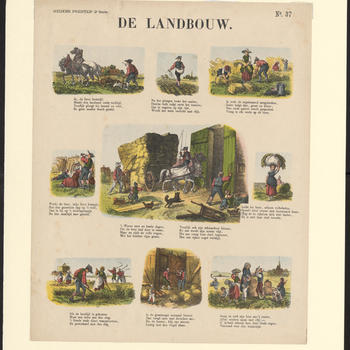 De Landbouw. - Meijers Prenten, 2e serie - No. 37