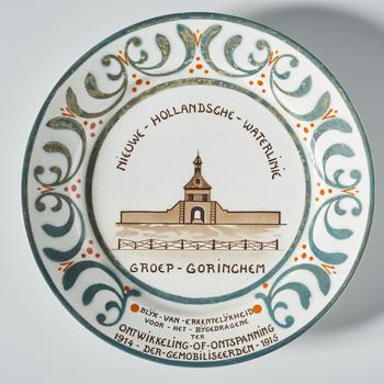 Gedenkbord 'Nieuwe Hollandsche Waterlinie, groep Gorinchem', 1915