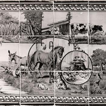 Tegeltableau met dieren, Staphorst, 1944