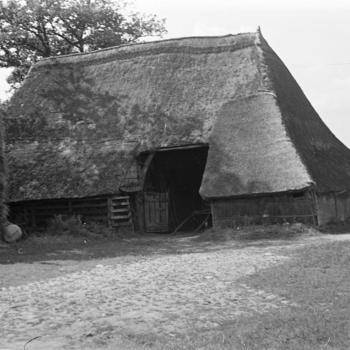 Schuur met schaapskooi, Hoge Hexel, 1947