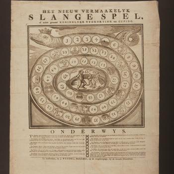 Bordspel 'Het Nieuw Vermaakelyk Slangespel', Amsterdam, 1795–1819