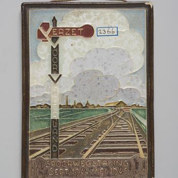 Cloisonné tegel, Delft, circa 1945