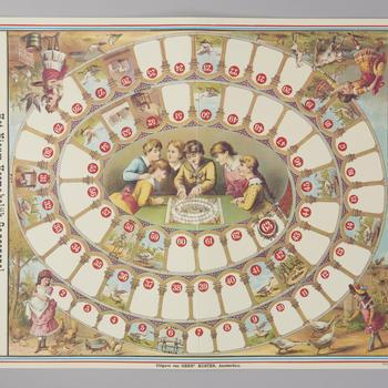 Bordspel 'Het Nieuw Vermakelijk Ganzenspel', 1974