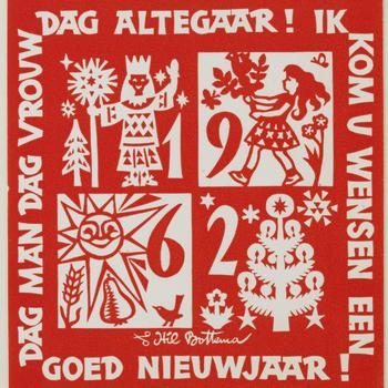 Nieuwjaarskaart, Arnhem, 1961–1962