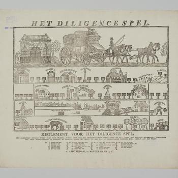 Bordspel 'Het Diligence Spel', Amsterdam, 1818–1845
