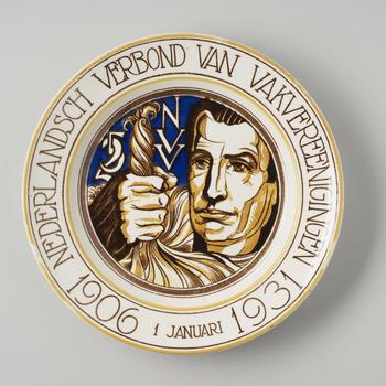 Gedenkbord 'Nederlandsch Verbond van Vakvereenigingen', Maastricht, 1931