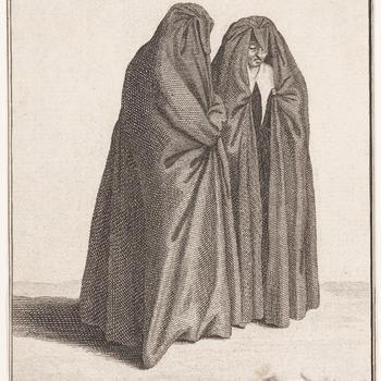 Twee rouwende vrouwen, Zaandam, circa 1700