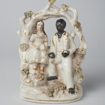Beeldje van Eva St. Clare en Uncle Tom, 1852-1860