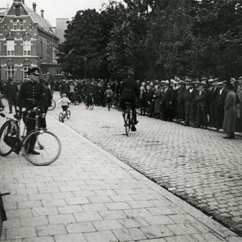 Wilde staking op het Korvelplein in Tilburg, 1935