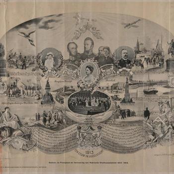 Gedenk- en Feestplaat ter herinnering aan Neêrlands onafhankelijkheid 1813-1913