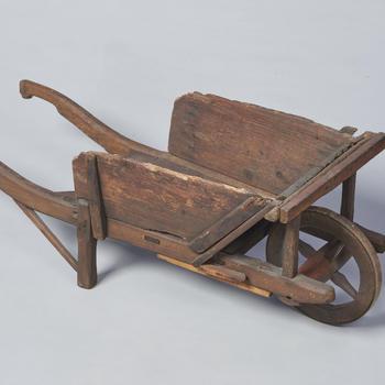Speelgoedkruiwagen met afneembare zijleren, 1920–1930