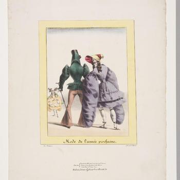 Spotprent op de mode, circa 1830