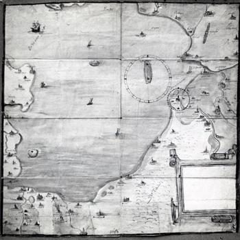 Kaart uit 1559 van de Zuiderzee, 1946