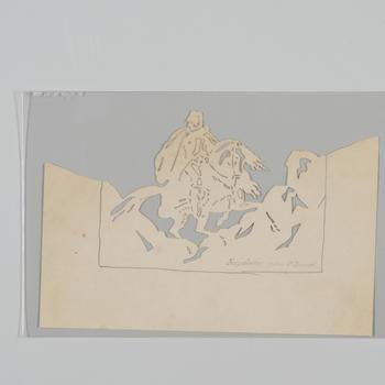 Coptografische voorstelling: Napoleon op den St Bernard, 1850–1870