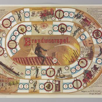 Bordspel 'Brandweerspel', 1974