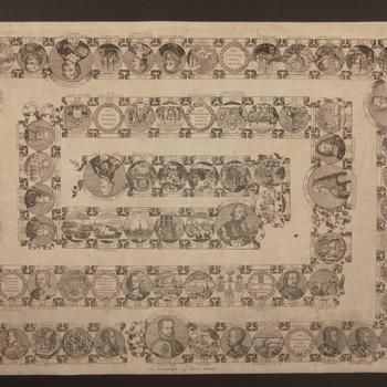 Bordspel 'Spel verbeeldende de Historie van Holland', Amsterdam, circa 1770