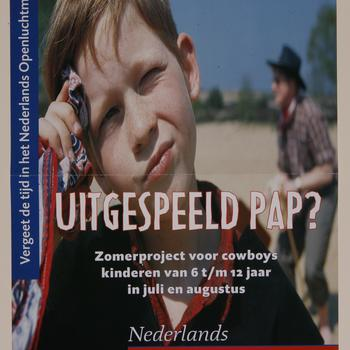 Affiche 'Uitgespeeld pap?', Nederlands Openluchtmuseum, 2000
