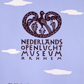 Affiche Nederlands Openluchtmuseum, 1955