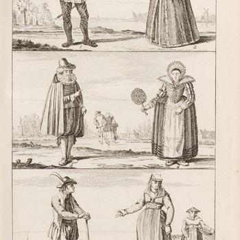 De kleding van Holland, Plaat III, de zestiende en zeventiende eeuw
